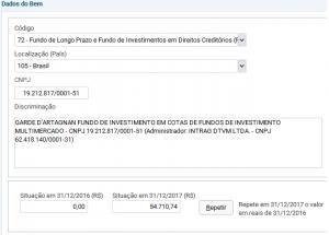 dados fundo de investimento