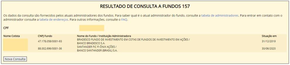 Fundo 157 - CPF com aplicações