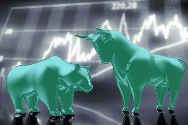 Índice Bovespa: Um urso e um touro, símbolos comuns para representar o mercado financeiro